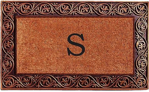 Home More 10003BRNZS Prestige Bronze Monogram Doormat Letter S