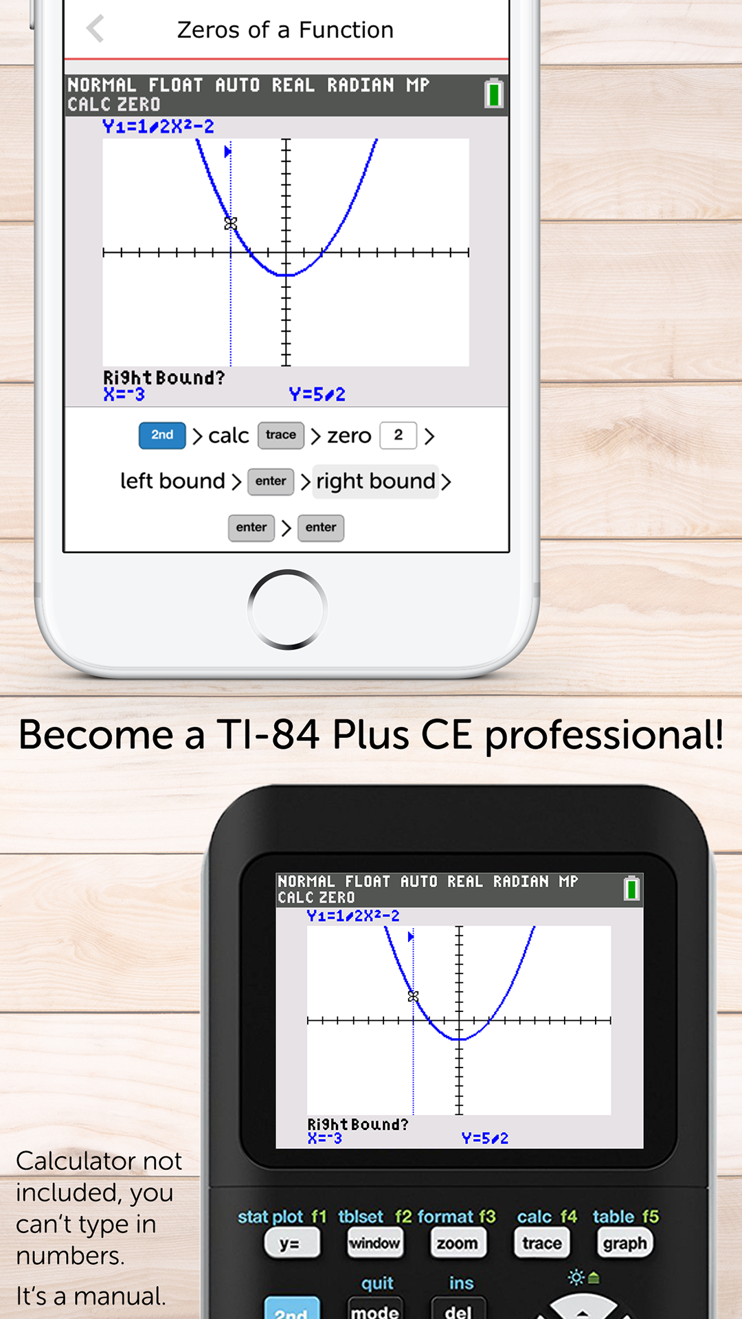 Amazon.com: Graphing Calculator Manual for TI-84 Plus CE: Appstore for  Android
