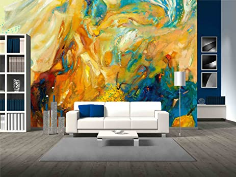 wall26 - Original Abstract Oil Painting on Canvas.Modern ...