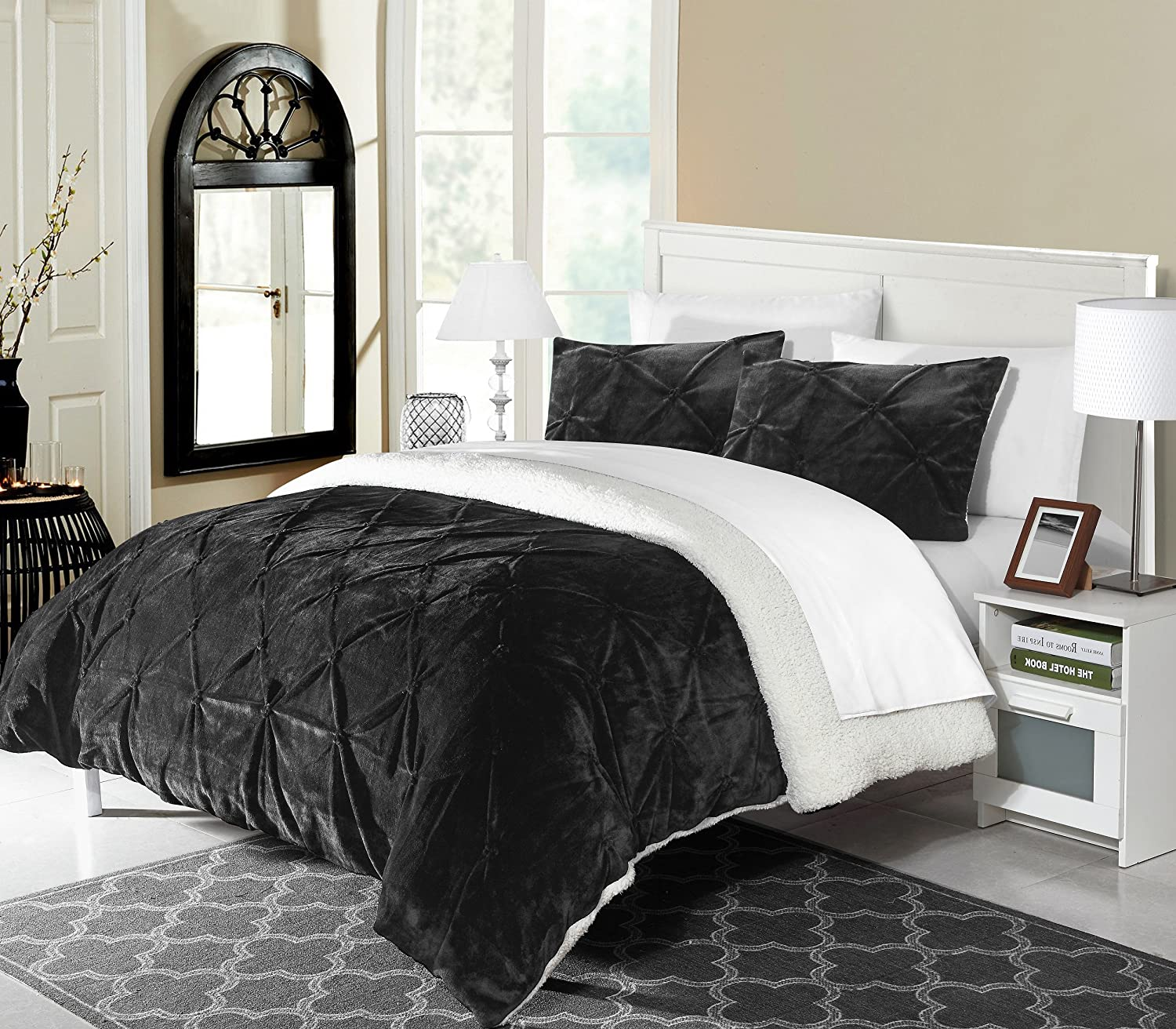 Bed In a Bag Comforter Set Black