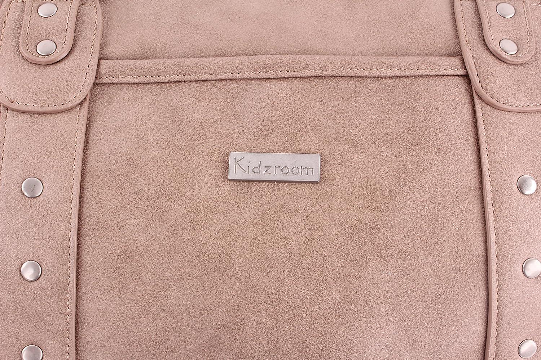 beige aufges Kidzroom 030-8093-2 Wickeltasche Vision of Love- PU Leder- sand Nieten