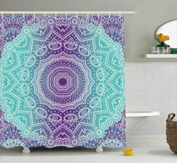 Amazon.com: Purple and Turquoise Shower Curtain by Ambesonne, Hippie on purple and teal walls, purple and green baby shower favors, purple and silver bathroom, purple and chocolate bathroom, purple and peacock themed wedding invitations, purple and gray bathroom, rustic turquoise bathroom, purple black plastic jewelry, purple and espresso bathroom, turquoise beach bathroom, purple and olive bathroom, house of turquoise bathroom, turquoise tile bathroom, purple girls bathroom, purple and bronze bathroom, turquoise mosaic bathroom, blue and purple bathroom, purple and beige bathroom, purple blue turquoise shower curtain, purple and teal bathroom,
