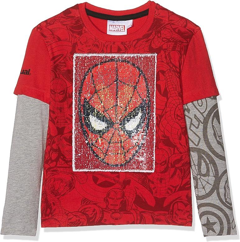 Desigual TS_Net Camisa Manga Larga, Rojo (Carmin 3000), 140 (Talla del Fabricante: 9/10) para Niños: Amazon.es: Ropa y accesorios