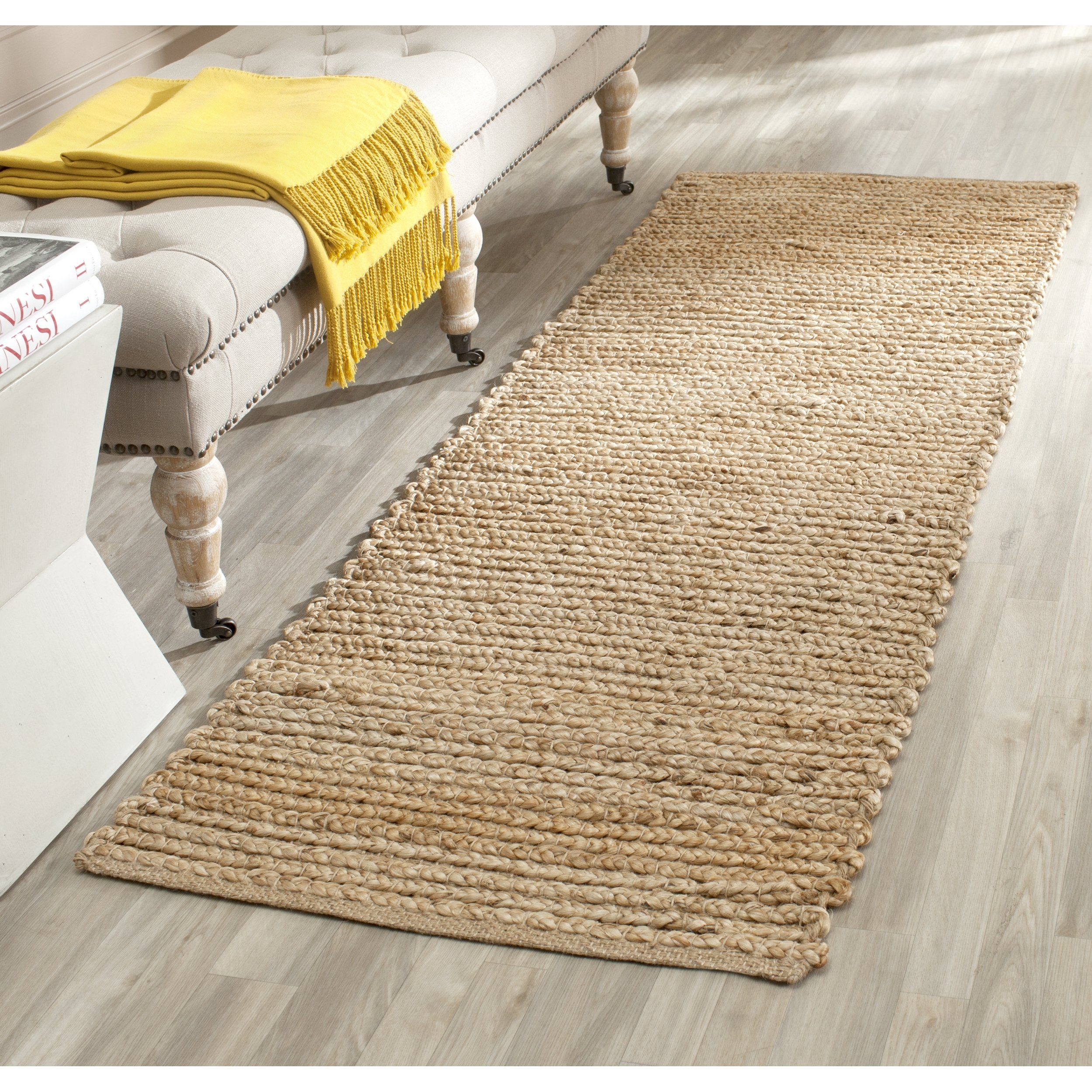 Safavieh Cape Cod Collection CAP355A Hand Woven Flatweave Natural Jute Runner (2'3 x 22') by Safavieh