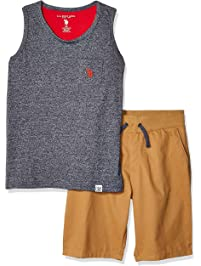 51b9d1cfe4 U.S. Polo Assn. Boys' 2 Piece Tank Top and Short Set