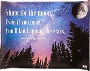 """777 Tri-Seven Entertainment Shoot for The Moon Poster Wall Decor Inspirational Quote Art Print, 24"""" x 18"""""""