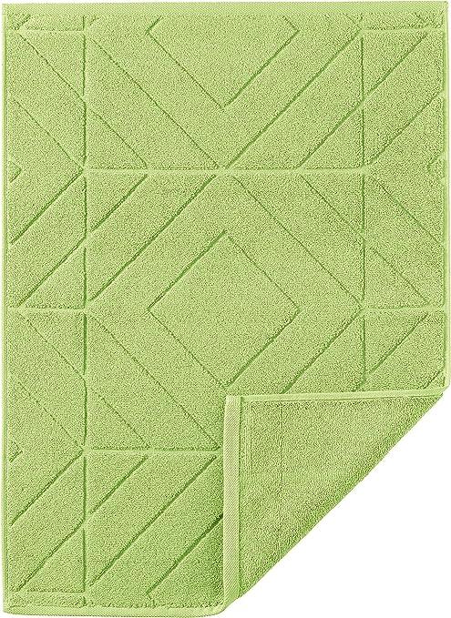 Egeria Alfombrilla de baño, Algodón, Verde, 50x30x2 cm: Amazon.es ...