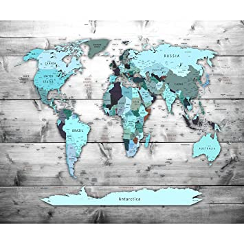 Decomonkey Fototapete Weltkarte Landkarte Kontinent 350x256 Cm Xxl