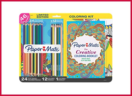 Paper Mate Colored Pencils Adult Coloring Kit