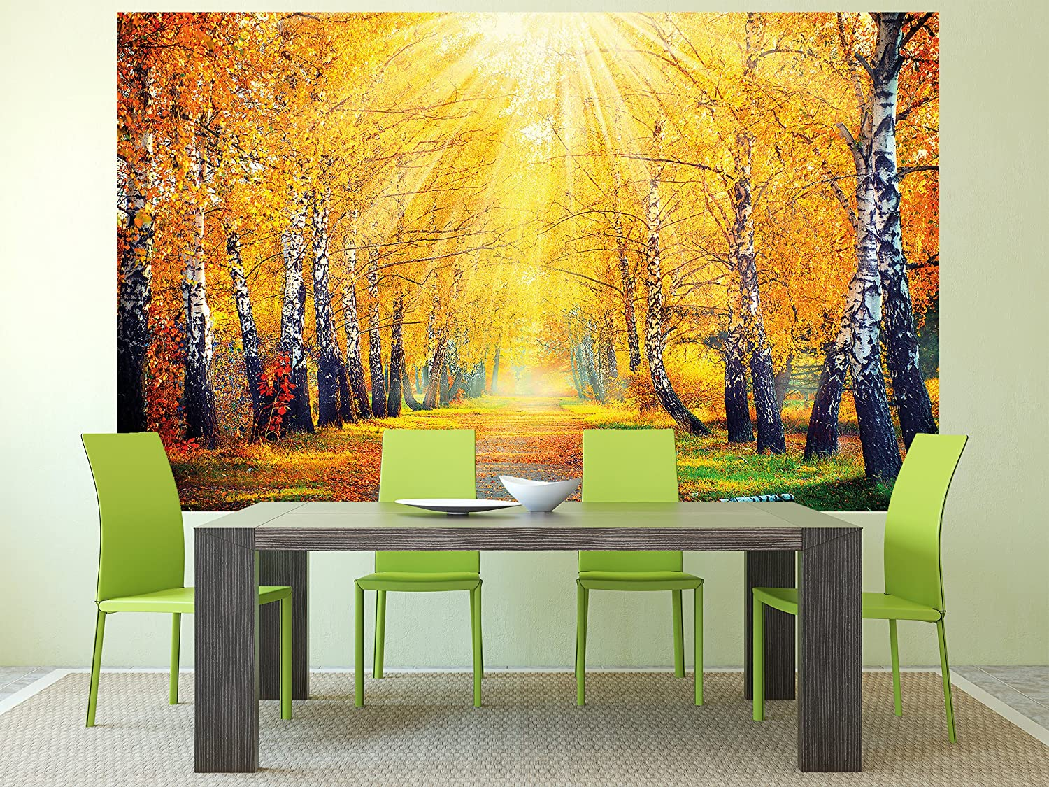 Great Art Autumn photo wall paper autumnal forest wall decoration ...