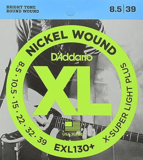 DAddario EXL130+ - Juego de cuerdas para guitarra eléctrica, material de níquel.