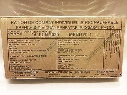 FRENCH R.C.I.R 24 HOUR RATION PACK NEW MENU,CAMPING,HIKING,FISHING MENU 14