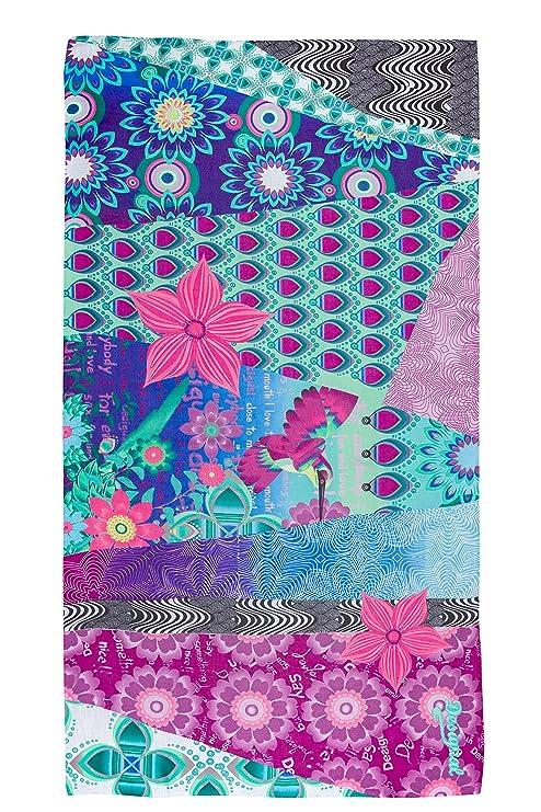 c5a7234fb2fc1 Desigual Allegra Carry - Foulard - Imprimé - Femme - Multicolore (Maracuya)  - Taille unique (Taille fabricant  Taille Unique)  Amazon.fr  Vêtements et  ...