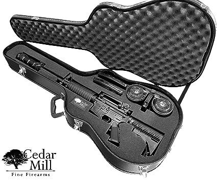 Discreet Concealment Guitar Rifle Case and Diversion Safe - Double Pick  Pluck foam security hard gun