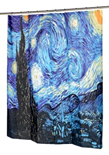 Captivating Carnation Home Fashions The Starry Night Fabric Shower Curtain, ...