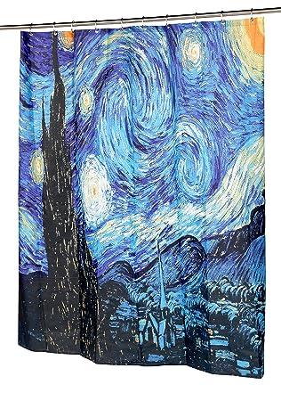 Amazon.com: Carnation Home Fashions The Starry Night Fabric Shower ...