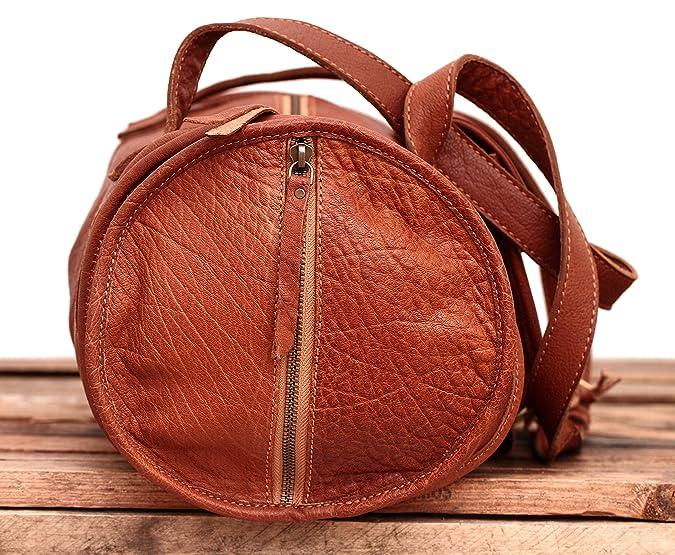MARIE Naturel sac à main en cuir de buffle pleine fleur forme polochon style vintage PAUL MARIUS 9Q9ewIF