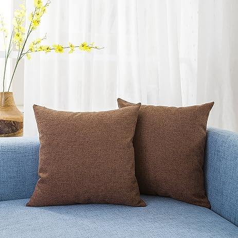 Amazon Kevin Textile Decor Lined Linen Pillow Cover Square