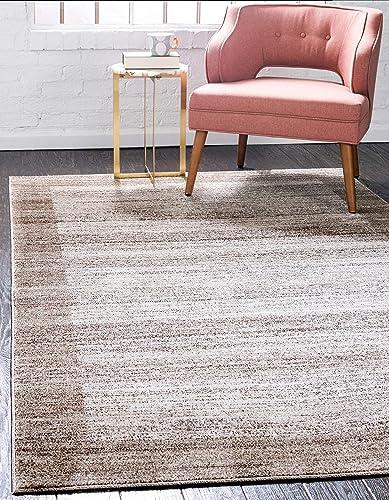 Unique Loom Del Mar Collection Contemporary Transitional Beige Area Rug 10' 0 x 13' 0
