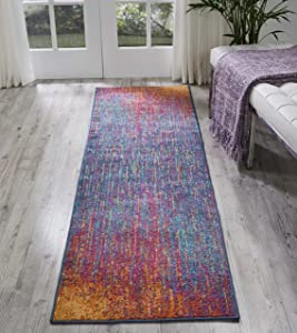 """Nourison Passion Modern Abstract Colorful Multicolor Area Rug Runner, 2'2"""" x 7'6"""""""