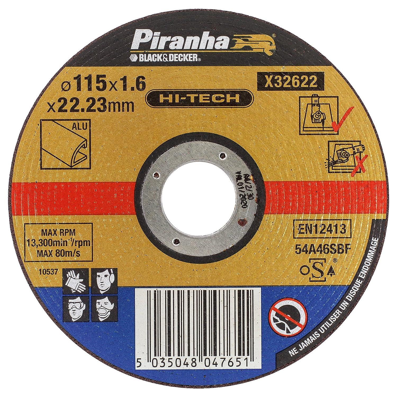 Piranha Trennscheibe (extra dü nn, Alu, Durchmesser 115 mm) 1 Stü ck, X32622 BLAMT