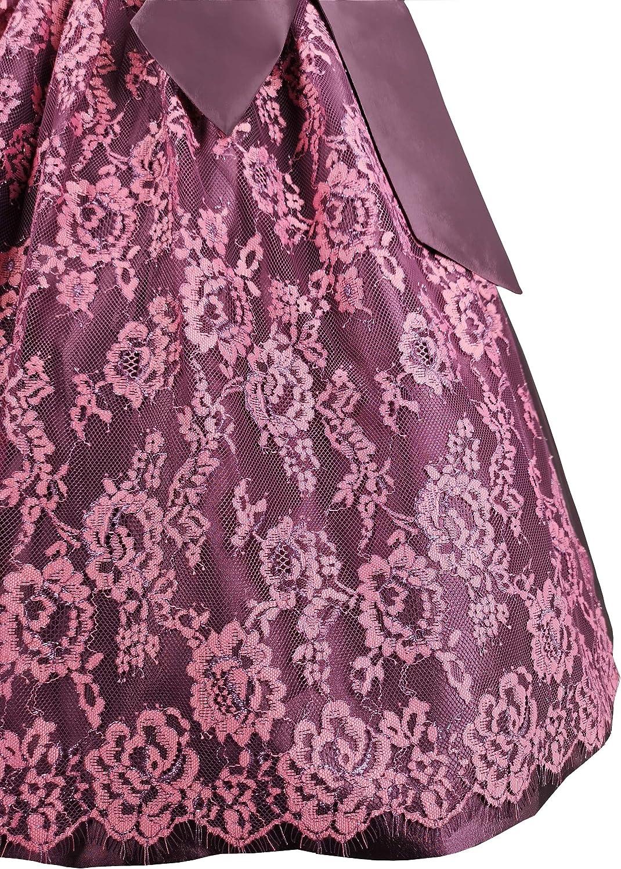 Trachtenkleid Lisa in Violett mit Sch/ürze aus Spitze Iseaa Exklusives Dirndl 2 TLG