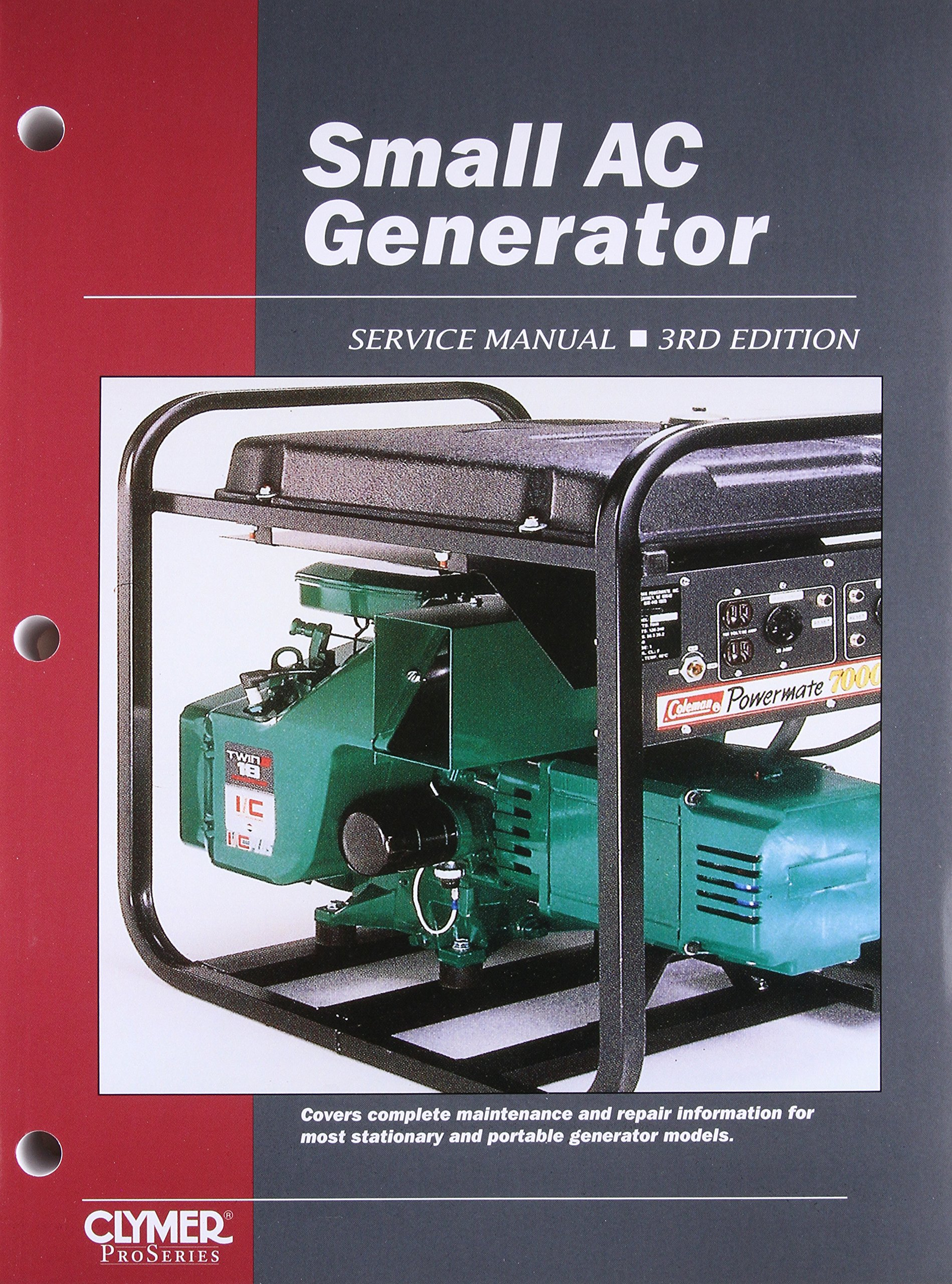 Small AC Generator Service Manual, 3rd Edition: Intertec: 9780872884670:  Amazon.com: Books