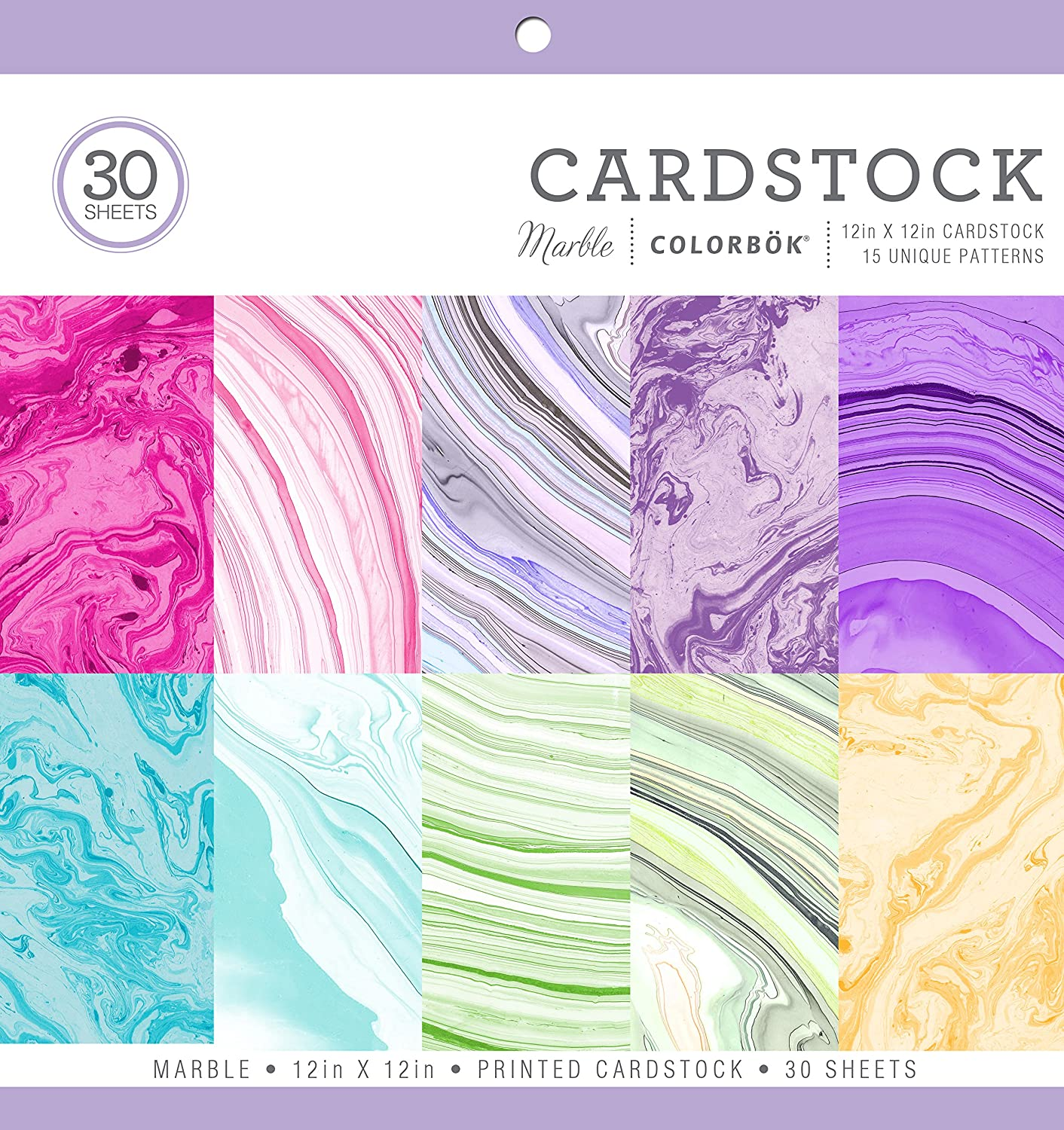 ColorBok 71876A Cardstock Paper Pad Marble, 12 x 12 12 x 12 71876B