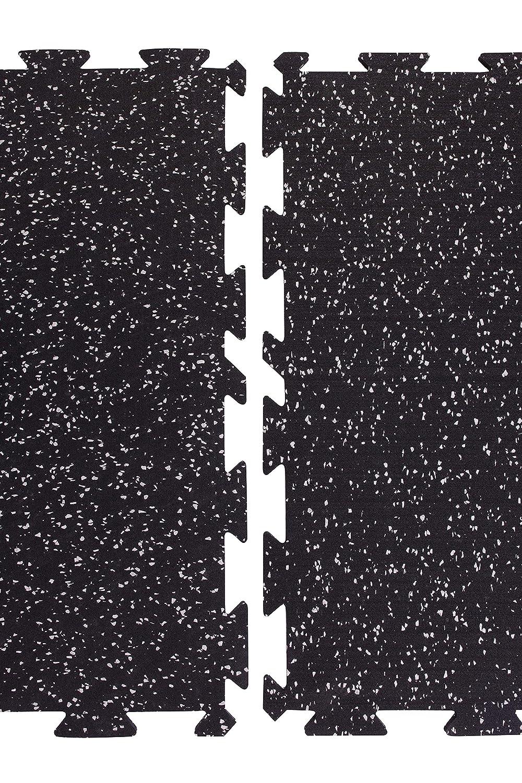Alfombra de protecci/ón Suelo de Gimnasio Suelo Negro con Gris BodenMax Hogar y decoraci/ón Equipo Deportivo Alfombra multifunci/ón Alfombra Protectora de Goma Gimnasio Piso Fitness 4 Piezas