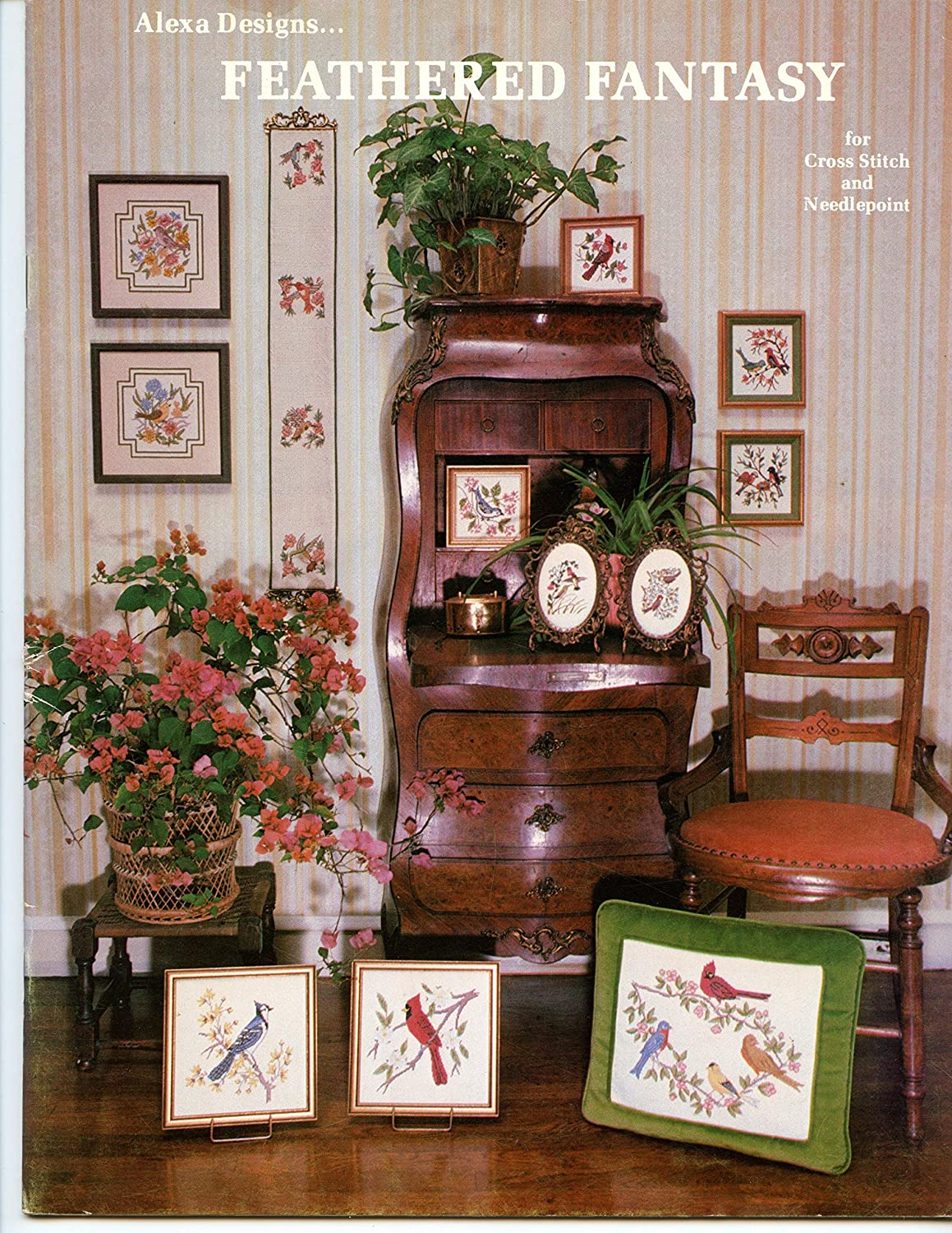 Alexa Designs...Feathered Fantasy for Cross Stitch and Needlepoint Jeanine Alexander Sherman