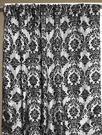 Zen Creative Designs Black White Damask Curtain Backdrop 58u0026quot; Wide  Panel / Party Booth