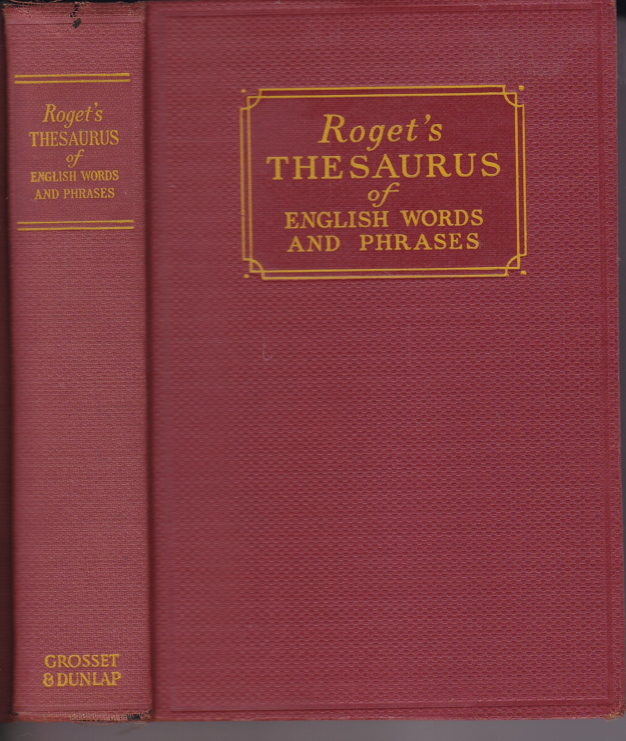 rogets original thesaurus