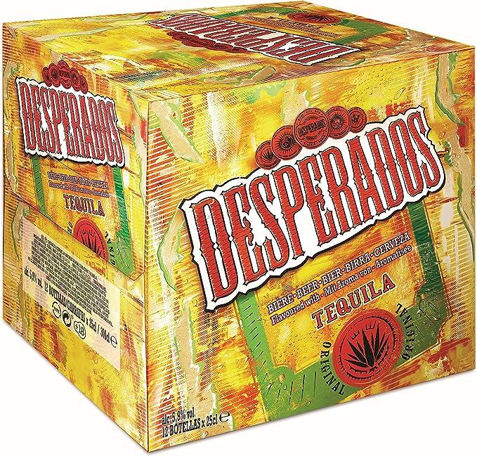 Desperados Cerveza - Pack de 12 Botellas x 250 ml -Total: 3 L: Amazon.es: Alimentación y bebidas