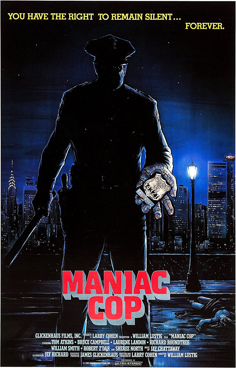 Maniac Cop (1988) Movie Poster 24x36 inches