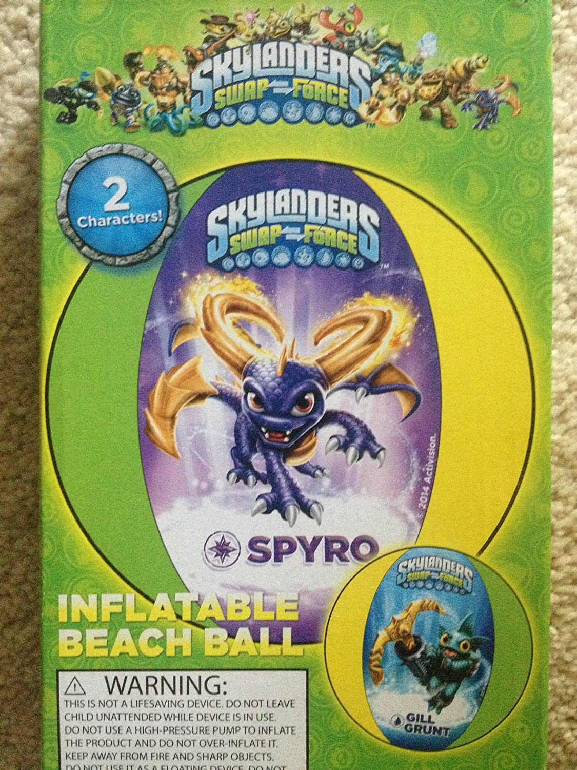 Amazon.com: Skylanders swap-force pelota hinchable de playa ...