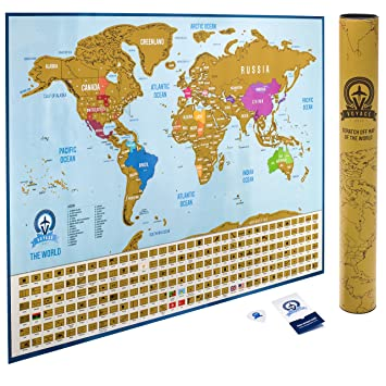 Amazon unique scratch off world map poster scratch off unique scratch off world map poster scratch off your travels usa states divided gumiabroncs Gallery