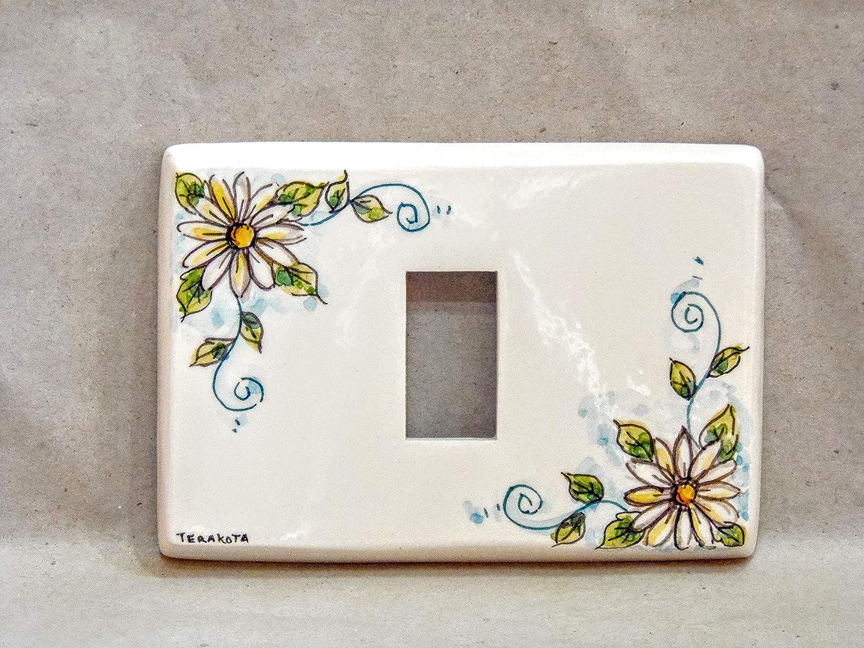 copri interruttore ceramica : decoroMargherita