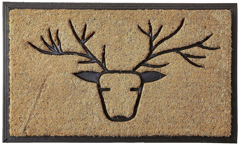 18 x 30 Natural//Black 18 x 30 Natural//Black Calloway Mills 100151830 Deer Doormat