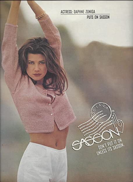 **PRINT AD** With Daphne Zuniga For 1996 Sasson Jeans **PRINT