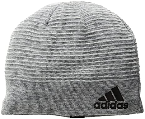 adidas Mens Creator Beanie, Onix/Light Onix/Clear Onix Marl/Black,