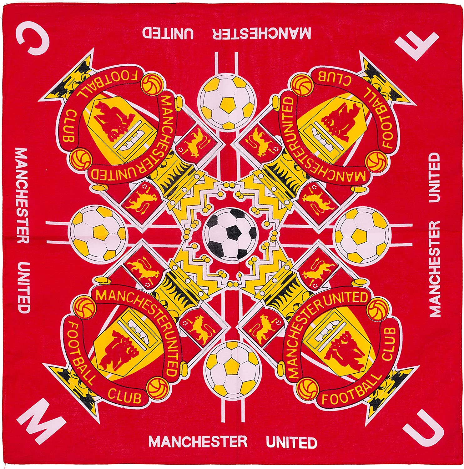 Amazon Com Manchester United Football Club Bandana Soccer Fc Red Home Kitchen
