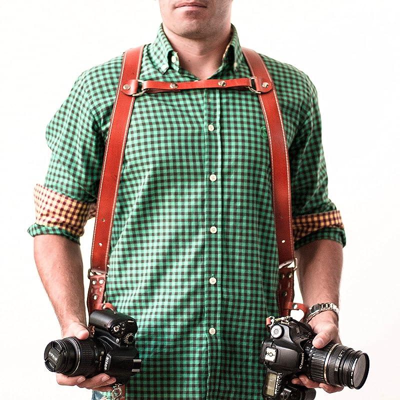 Arnés para dos cámaras.: Amazon.es: Handmade