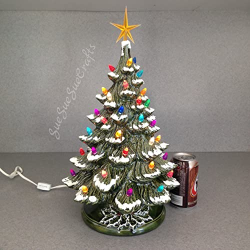 Amazon Com Ceramic Christmas Tree Tabletop Traditional Old