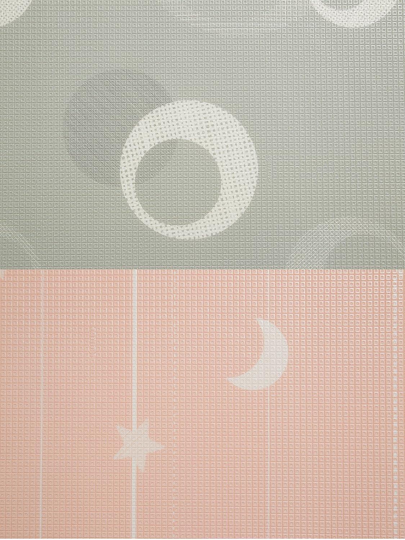 Caraz(カラズ) リバーシブル 両面 PEマット 150×200×1.2cm グレー ピンク   B073X2V28Y