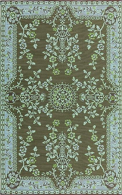 873ee069fdf2 Amazon.com : Mad Mats Garland Indoor/Outdoor Floor Mat, 6 by 9-Feet, Teal  and Brown : Garden & Outdoor