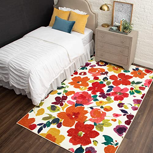 Mohawk Home Strata Bright Floral Toss Printed Area Rug
