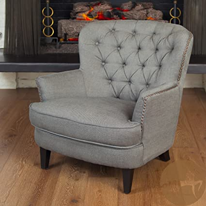 Delicieux Christopher Knight Home 211607 Tafton Tufted Fabric Club Chair, Grey