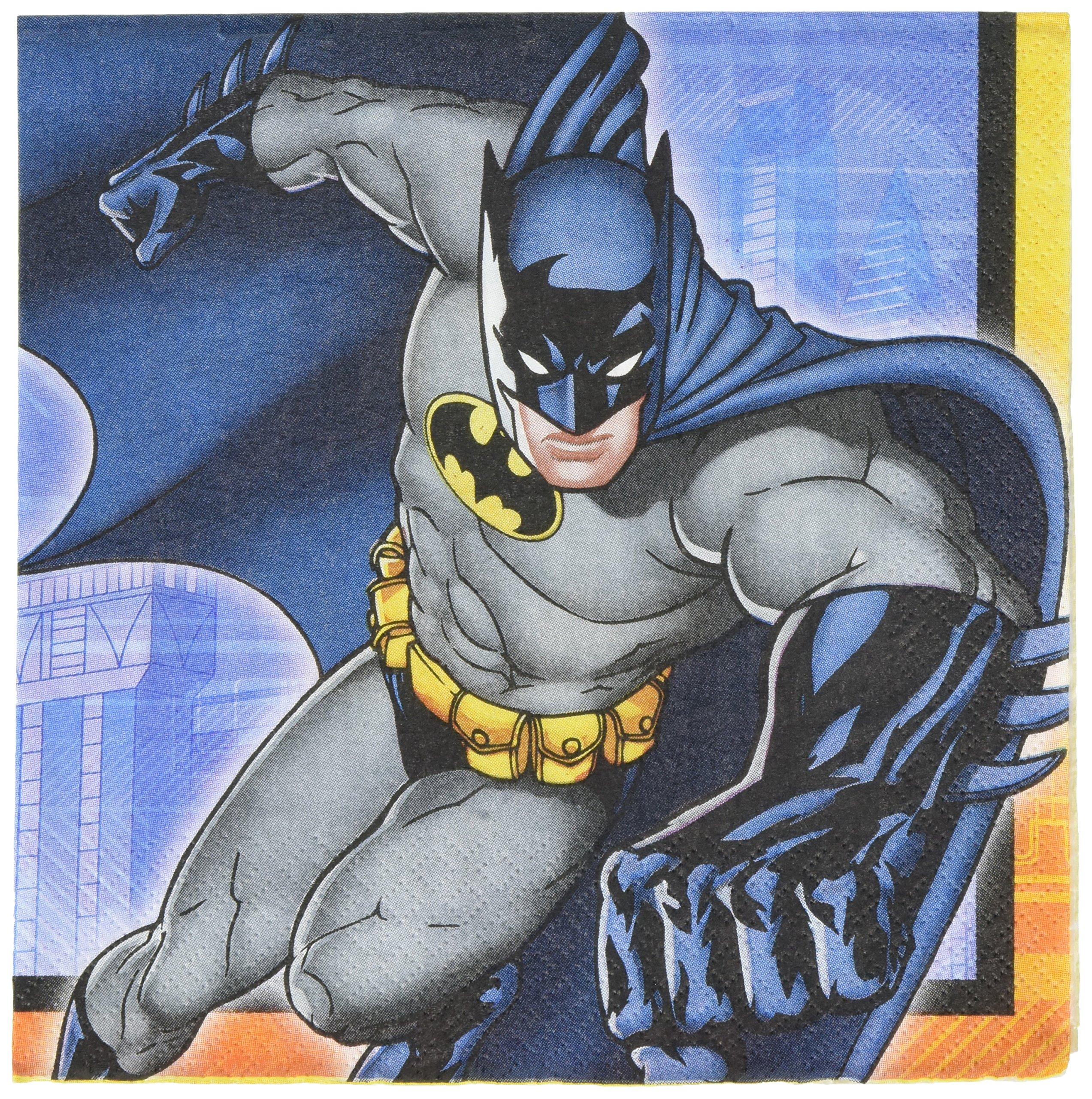 amscan Batman Luncheon Napkins, Party Favor, 96 Ct.