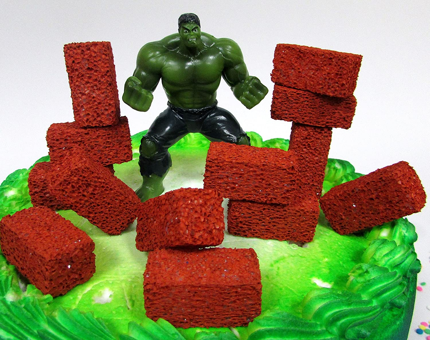 Amazon.com: Super Hero Avengers increíble Hulk torta de ...