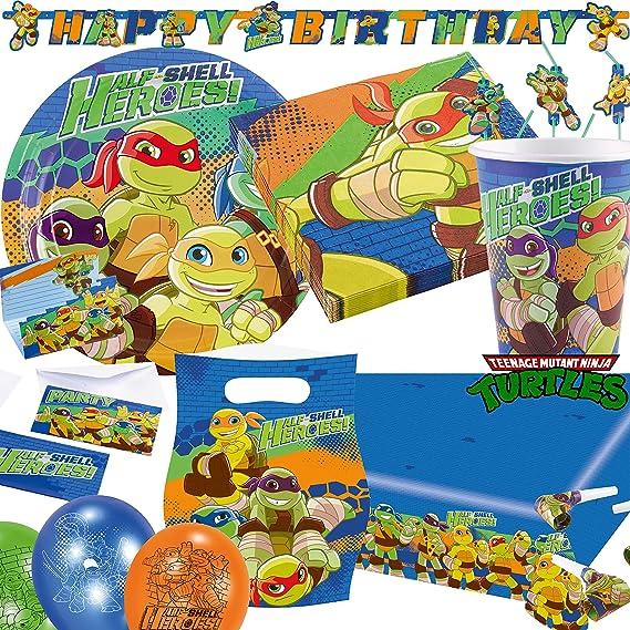 Generique Guirlanda de cartón Happy Birthday Tortugas Ninja ...